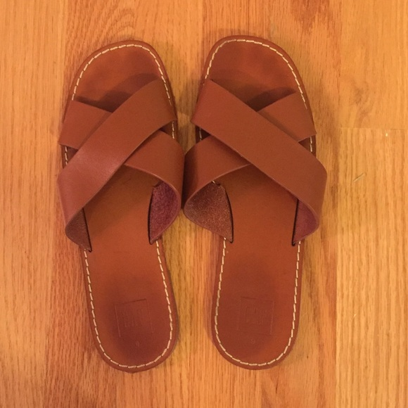 24a81c927 GAP Shoes - Gap Brown Crossover Sandals