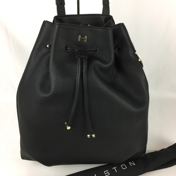 H by Halston Pebble Leather Drawstring Backpack 🎒 9cdc68f7d772e