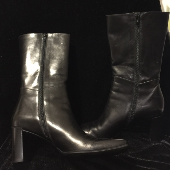 89 via spiga shoes via spiga black leather boots sz