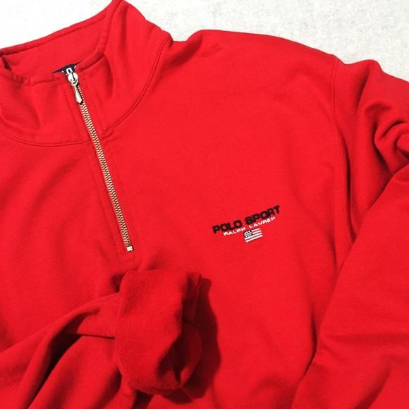 b4b16c2d484 Men's - Vintage Polo Sport Quarter Zip Sweater