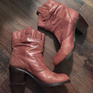 Arturo Chiang Shoes - Arturo Chiang Leather Slouchy Boots