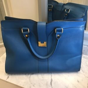 carlo pazolini Handbags - Leather Bag by Carlo Pazolini in Sapphire Blue