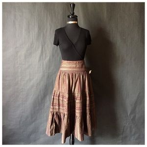 Willi Smith Dresses & Skirts - Willi Smith Brown Toned Flowing Skirt