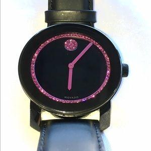 Movado Accessories - 🔴THRU THE WEEKEND🔴Swarovski Pink Crystal Movado