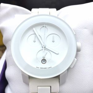 Movado Accessories - 🔴THRU THE WEEKEND🔴Movado BOLD white watch