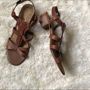 Sam Edelman Shoes - Sam edelman chunky heel tan sandals 8