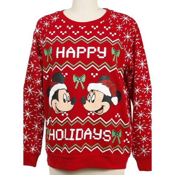 mickey and minnie christmas sweater - Disney Christmas Sweaters