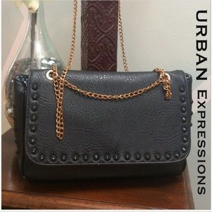 Urban Expressions Handbags - Urban Expressions Black Studded Bag