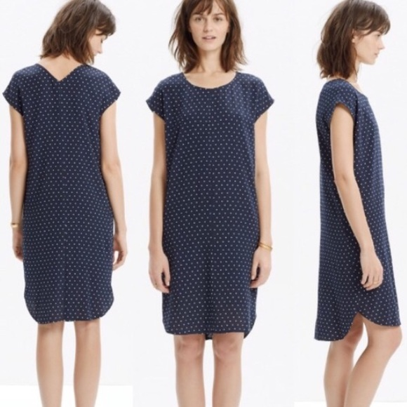 50670aeace7 Madewell Dresses | Layout Tunic Dress In Dot | Poshmark