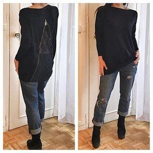 Sweaters - Paris lace back sweater cashmere blend LAST ONE