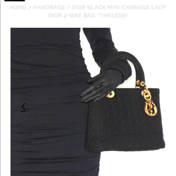 f0cc80ca2487 Lady Dior Handbags - DIOR Mini Cannage Lady Dior 2-Way Bag.
