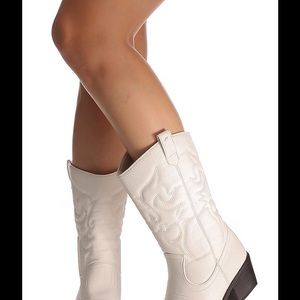 Always For Me Shoes - Sexy white cowboy boots