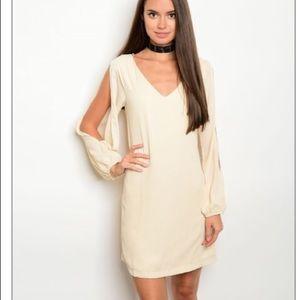 Dresses & Skirts - Chiffon Cutout long sleeve boho mini dress