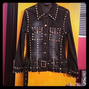 gazoz Jackets & Blazers - Rhinestone stretch jean jacket