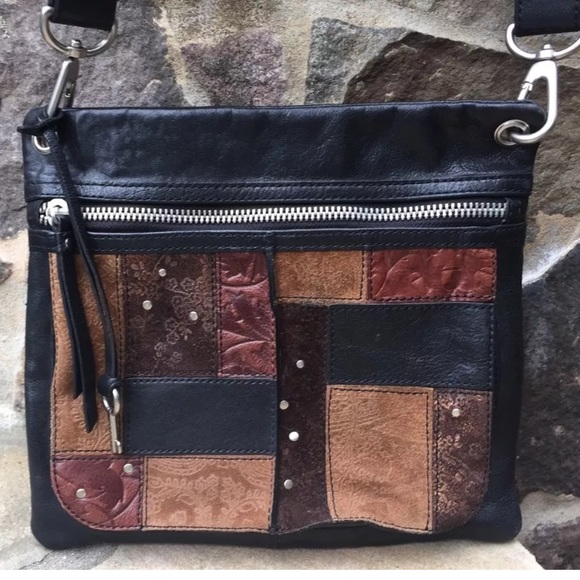 Fossil Handbags - Fossil patchwork leather crossbody purse- Vintage e21fcfabe5992