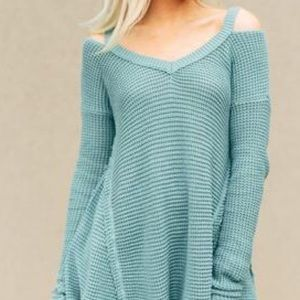 Three Bird Nest Tops - 3BN thermal cold shoulder tunic