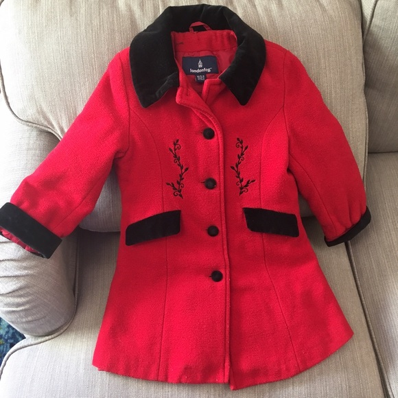 variety of designs and colors original quality Little girls London Fog wool dress coat