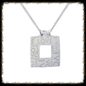 Alexa's Angels Jewelry - Alexa's Angels Love Square Rhodium Necklace
