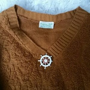 Sweaters - Vintage acrylic rust colored sweater