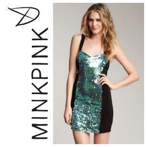 MINKPINK Dresses & Skirts - 🍀 MINKPINK Splash Iridescent Sequin Dress XS NWT