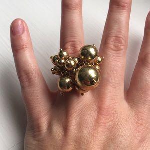 Jcrew gold bauble ring