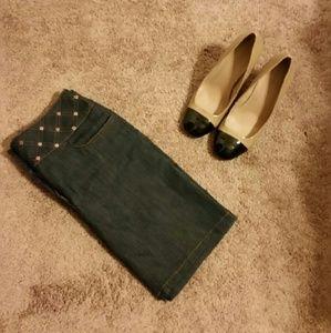 Celine Dresses & Skirts - CELINE denim mini skirt