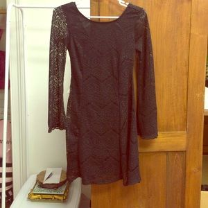SOLD* NWT Xhilaration lace bell sleeve dress