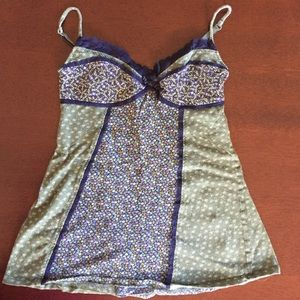 Blue and green Anthropologie tank *make an offer*