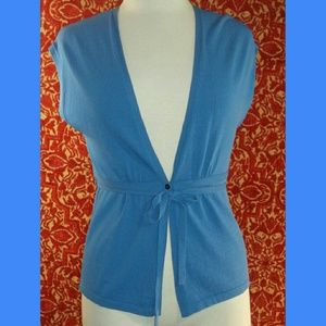 Anne Klein Other - Anne Klein periwinkle rayon blend knit vest PP