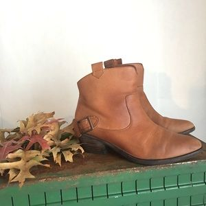 Joie Brown Leather Bootie