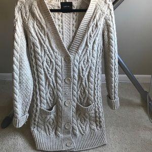 Zara chunky knit button cardigan
