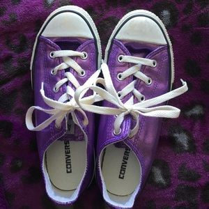 4ffab52566221d Converse Shoes - ❤️️Converse Shiny PURPLE Metallic ❤️️Girls Size 2