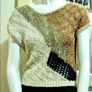 Vintage Tops - Vintage Handmade Knit Top, Made in Italy, S/M