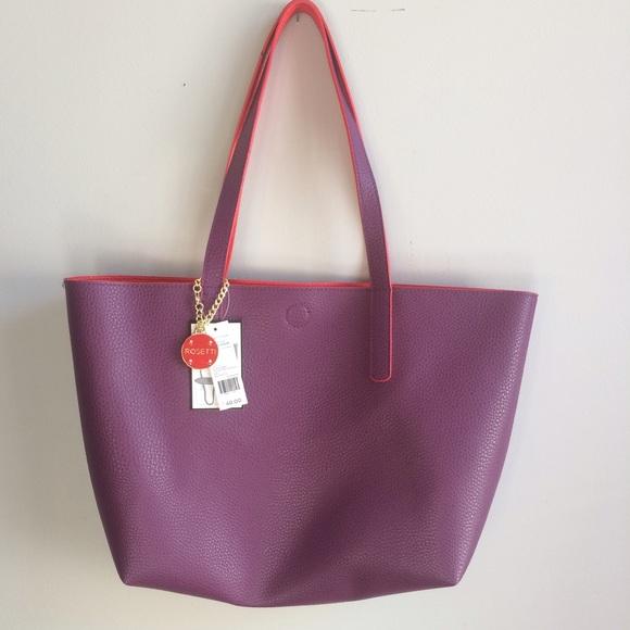 ccf872711d Rosetti Malena Tote Purple Red Reversible New