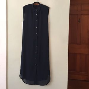 Wood Wood Dresses & Skirts - Wood Wood Sheer Button Up Maxi Shirt Dress