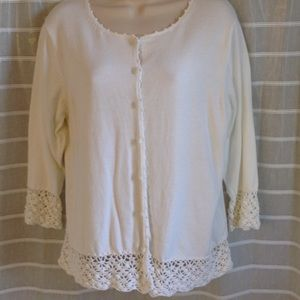 Pretty lace-trimmed cardigan