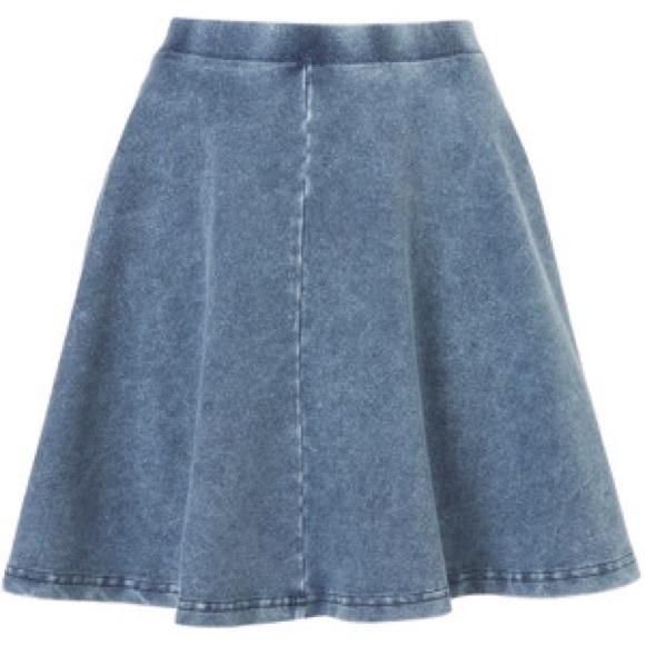 72% off Topshop Dresses & Skirts - Topshop denim circle skirt from ...