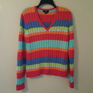 Chaps Sweaters - Last Call Donating Chaps Striped Sweater EUC