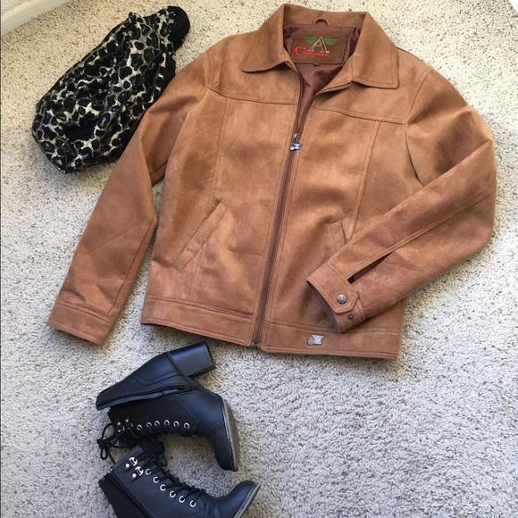 dfc940df7dcb Armani Collezioni Jackets & Blazers - Armani Collezioni women's suede  leather jacket