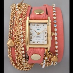 La Mer Accessories - La Mer Coral wrap watch 💕