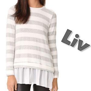 liv Sweaters - 🆕Chiffon hem sweater