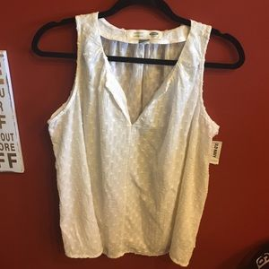 Old Navy Tops - Embossed patterned linen maternity NWT OLD NAVY