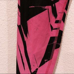 Nike Pants - Nike Dri Fit black pink running workout leggings