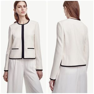 Ann Taylor Jackets & Blazers - Gorgeous Ann Taylor Black & White Textured Jacket