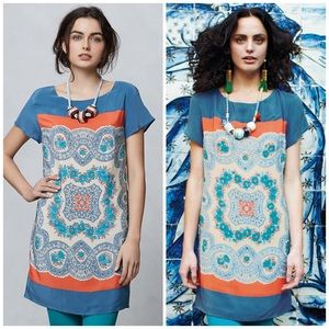 Anthropologie Dresses & Skirts - Anthropologie Meadow Rue Printed Silk Shift Dress