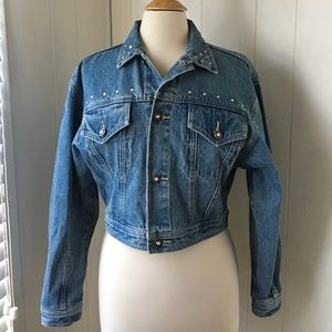 L.A. Gear Jackets & Blazers - ADORABLE DEMIN BLING STUDDED JACKET,
