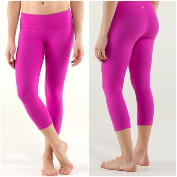 lululemon athletica - Lululemon Wunder Under Crops 6 Hot Pink Yoga ...