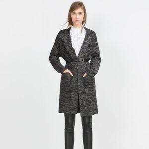 Zara grey long knit Cardigan