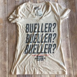 hybrid Tops - 80's flashback Bueller Tee! NWT! Juniors size L