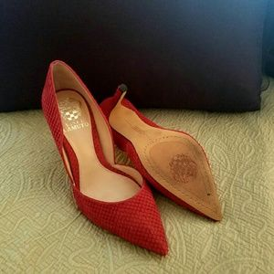 755f77f15342 Vince Camuto Shoes - Vince Camuto Rowin d Orsay Red Snake Pump